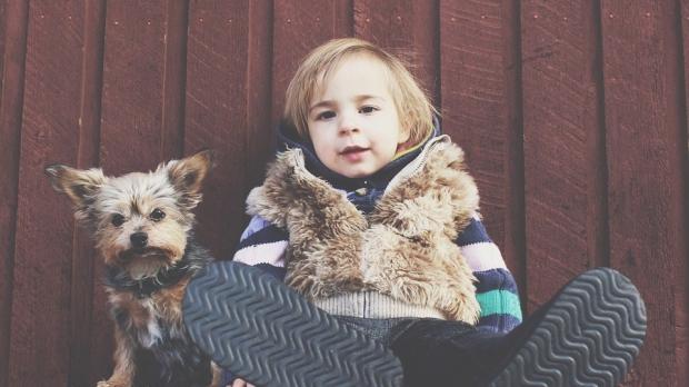 crecer con perros, niños