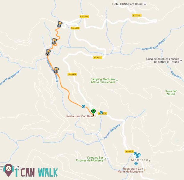 Riera sant mar al y ermita de sant mart montseny icanwalk for Piscinas naturales montseny