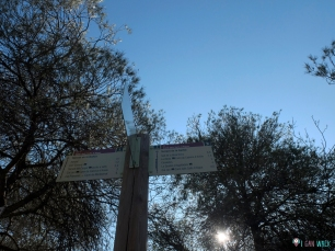 indicaciones verticales del camino