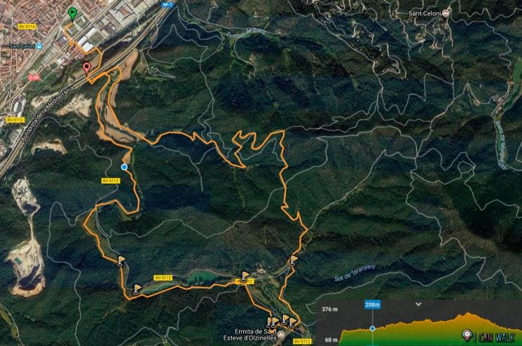 mapa wikiloc Olzinelles Senderismo con Perros